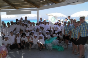 Clean up activities in Nissi Beach 05.06.2012