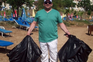 Clean up activities in Paralimni area