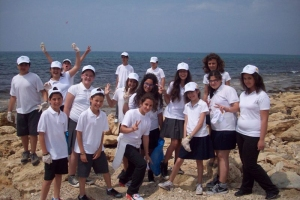Ecological schools participating in clean up activities in Agia Napa 16.05.2012