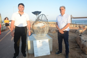 'Keep Our Sand and Sea Plastic Free' Project Unveiling of the whale sculpture 'Evdokia'-– Ayia Napa coastal footpath 24.07.2020