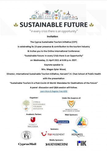INVITE - SUSTAINABLE FUTURE - in every crisis there is an opportunity -21APR21